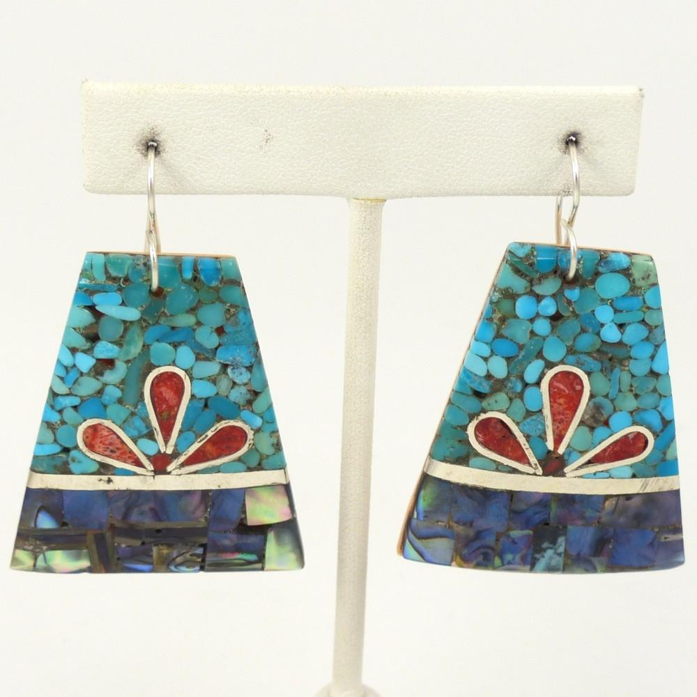Mosaic Inlaid Earrings - Jewelry - Mary Lovato - 1