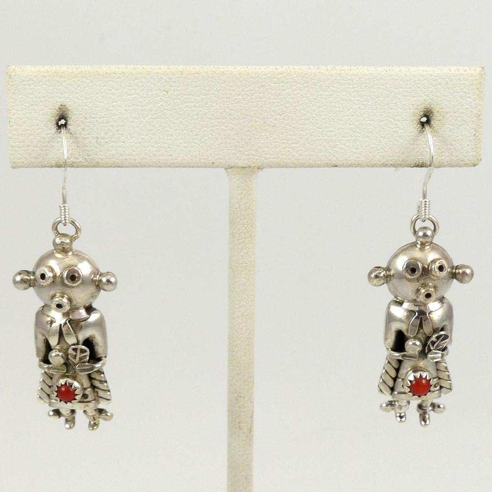 Mudhead Earrings with Coral - Jewelry - Toby Henderson - 1