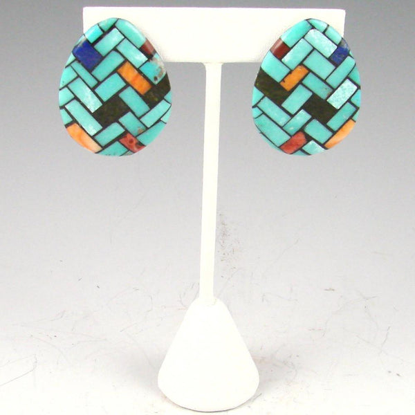 Mosaic Inlay Earrings - Jewelry - Rena Owen - 1