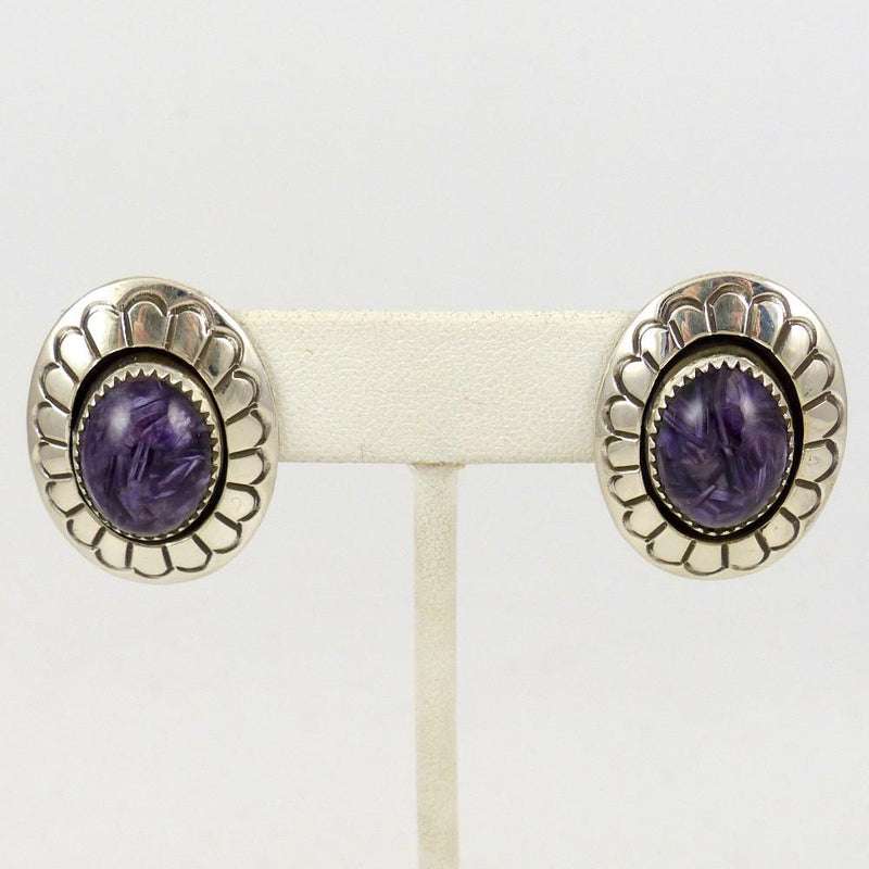 Charoite Earrings - Jewelry - Martha and Gene Jackson - 1