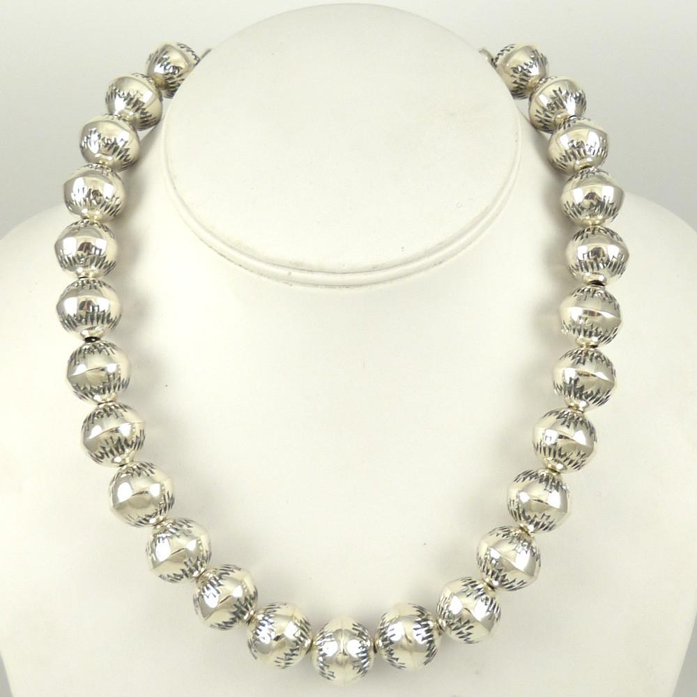 Silver Bead Necklace - Jewelry - Victoria Haley - 1
