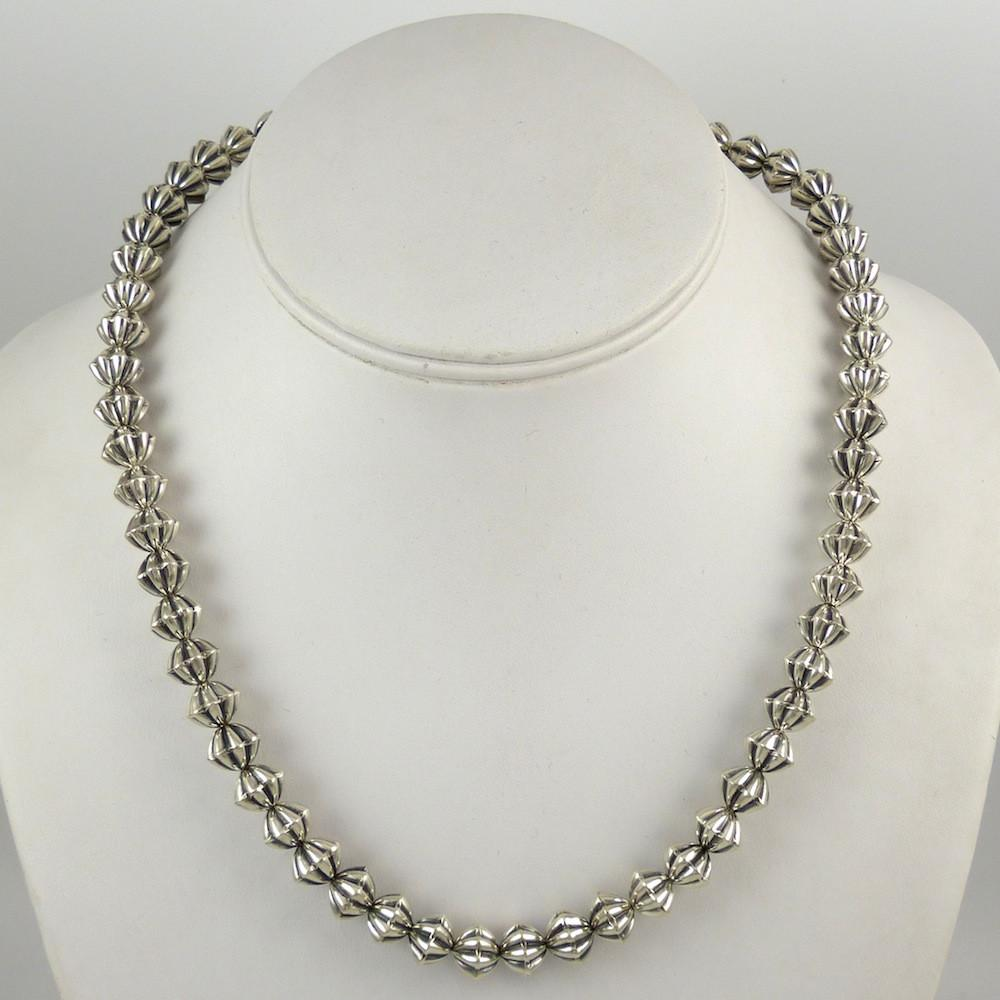 Fluted Silver Bead Necklace - Jewelry - Kyle Lee - 1