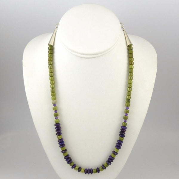 Serpentine and Sugilite Necklace - Jewelry - Melanie and Michael Lente - 1