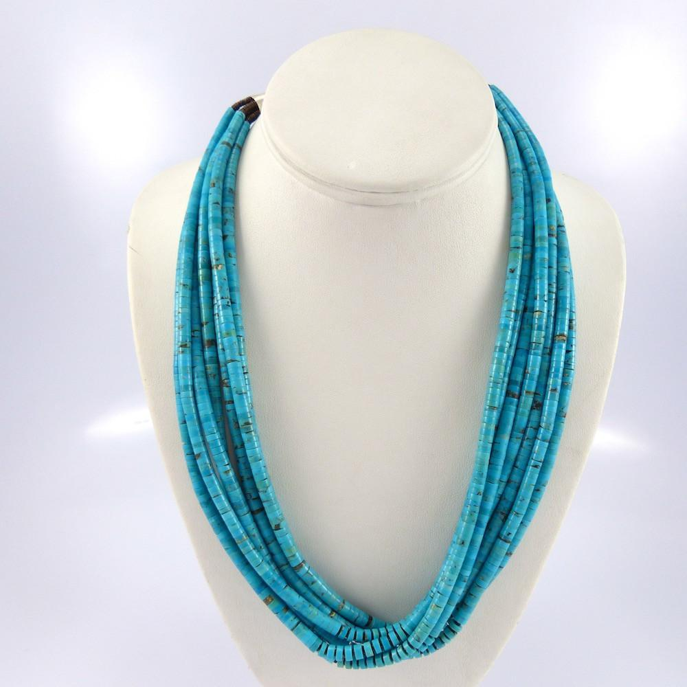 Turquoise Heishi Necklace - Jewelry - Lester Abeyta - 1