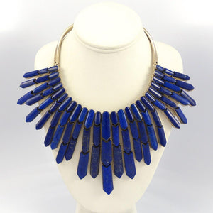 Lapis Arrow Collar Necklace - Jewelry - Federico - 1
