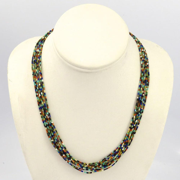 Multi-Stone Heishi Necklace - Jewelry - Joe Jr. and Valerie Calabaza - 1