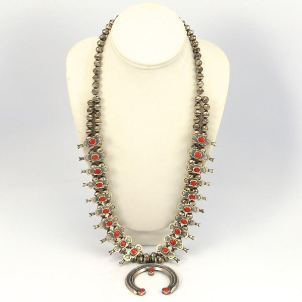 Coral Squash Blossom Necklace, Vintage Collection, Jewelry, Garland's Indian Jewelry