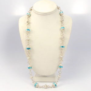 Kingman Turquoise Bead Necklace, Michael Perry, Jewelry, Garland's Indian Jewelry