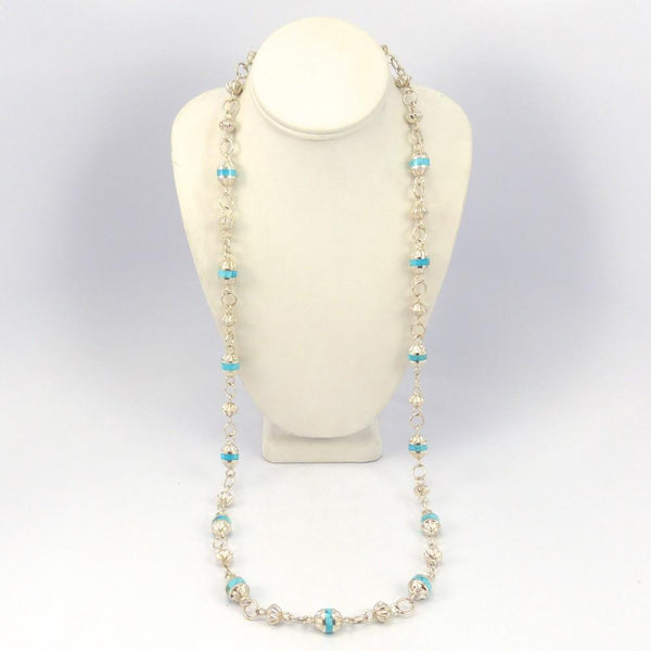 Morenci Turquoise Bead Necklace, Michael Perry, Jewelry, Garland's Indian Jewelry