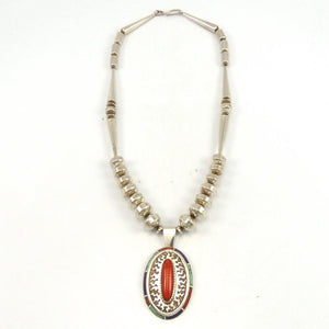 Silver Beads with Pendant, Larry Castillo, Jewelry, Garland's Indian Jewelry