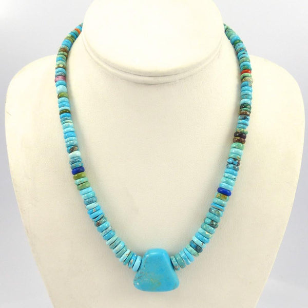 Turquoise Bead Necklace, Bruce Eckhardt, Jewelry, Garland's Indian Jewelry
