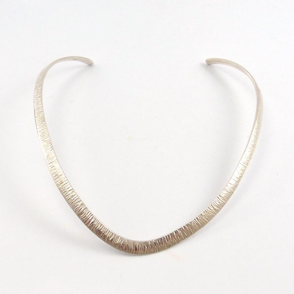 Hammered Silver Collar, Al Joe, Jewelry, Garland's Indian Jewelry