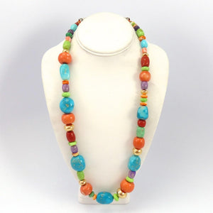 Colorful Bead Necklace, Don Lucas, Jewelry, Garland's Indian Jewelry