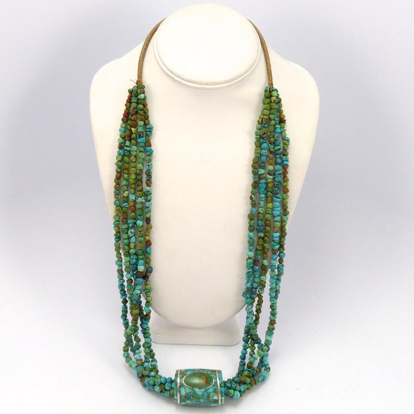 Turquoise Bead Necklace, Mary Coriz and John Aguilar, Jewelry, Garland's Indian Jewelry