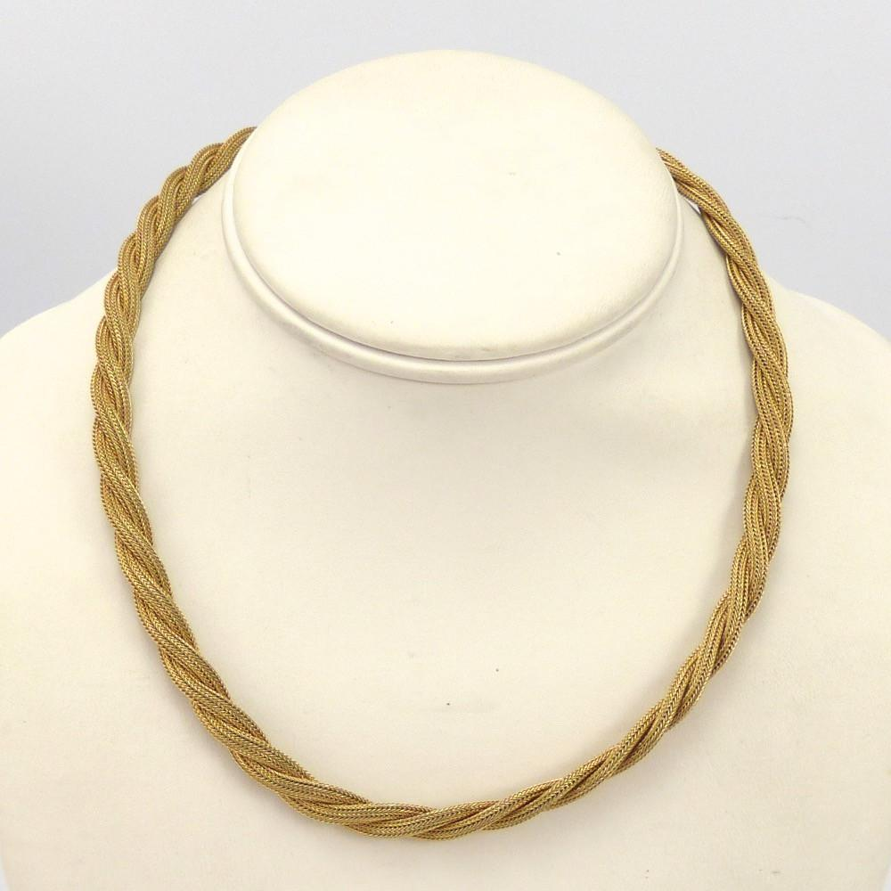 Braided Gold Necklace – Garland\'s Indian Jewelry