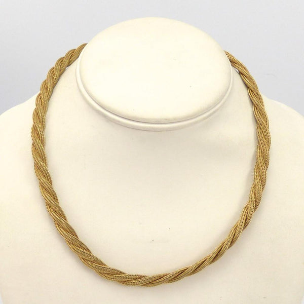 Braided Gold Necklace