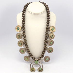 1950s Squash Blossom Necklace, Vintage Collection, Jewelry, Garland's Indian Jewelry