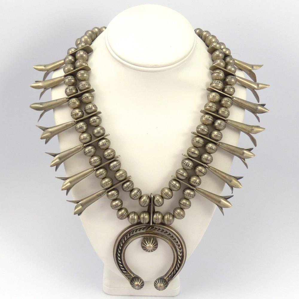 1940s Squash Blossom Necklace Garland S Indian Jewelry