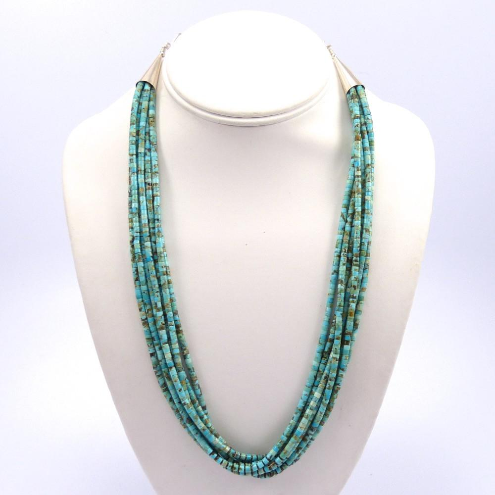 necklace heishi silver sterling img turquoise vintage with clasp