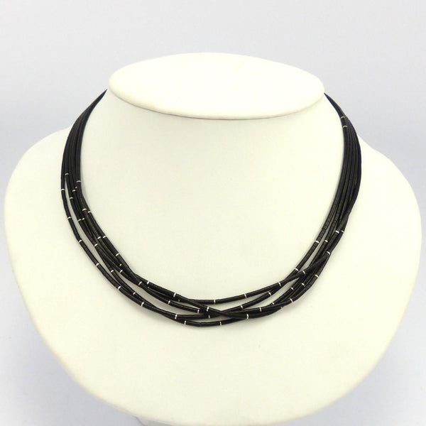 Jet Heishi Bead Necklace