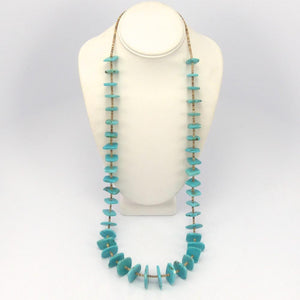 Turquoise Tab Necklace, Raymond Tenorio, Jewelry, Garland's Indian Jewelry