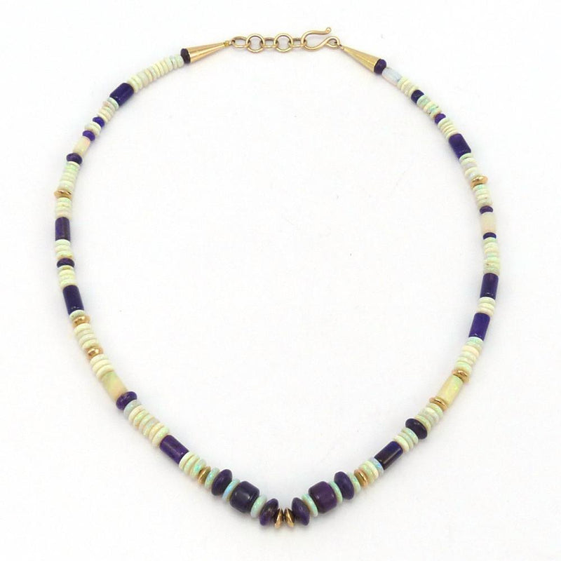 Opal and Sugilite Necklace
