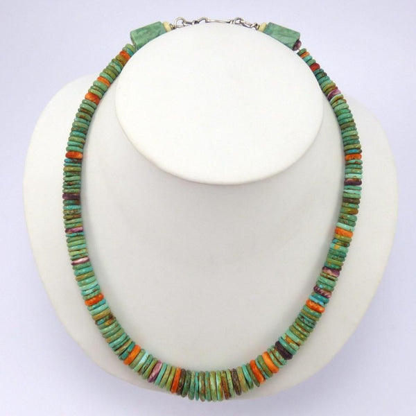 Turquoise and Shell Necklace, Bruce Eckhardt, Jewelry, Garland's Indian Jewelry