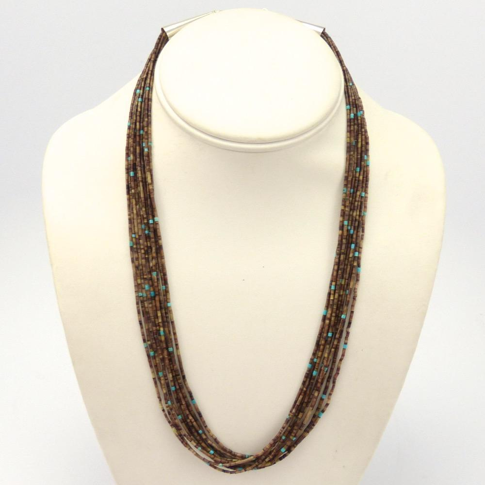 lita atencio necklace santo strand heishi ten turquoise domingo