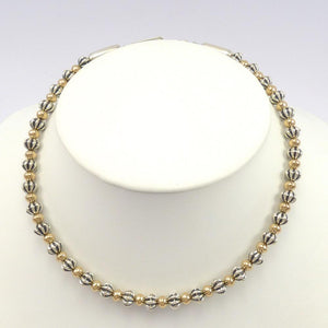 Gold and Silver Bead Necklace, Al Joe, Jewelry, Garland's Indian Jewelry