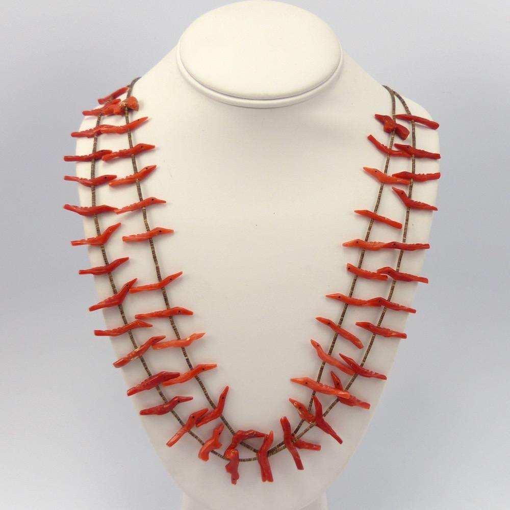 Coral Fetish Necklace, Vintage Collection, Jewelry, Garland's Indian Jewelry