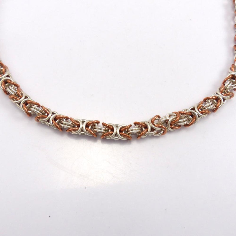 Copper and Silver Link Necklace, Adrienne Sice, Jewelry, Garland's Indian Jewelry