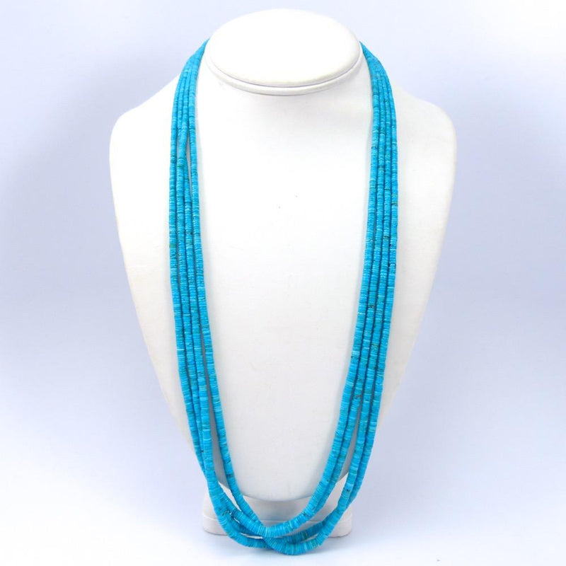 Blue Gem Turquoise Necklace, John Huntress, Jewelry, Garland's Indian Jewelry