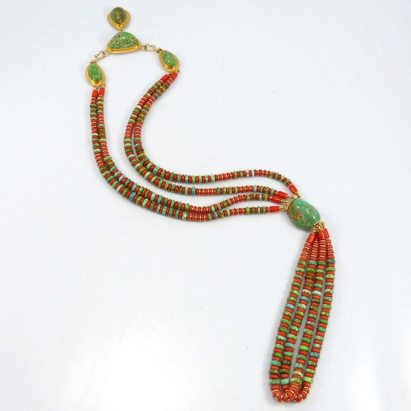 """Happiness"" Necklace, Larry Vasquez, Jewelry, Garland's Indian Jewelry"