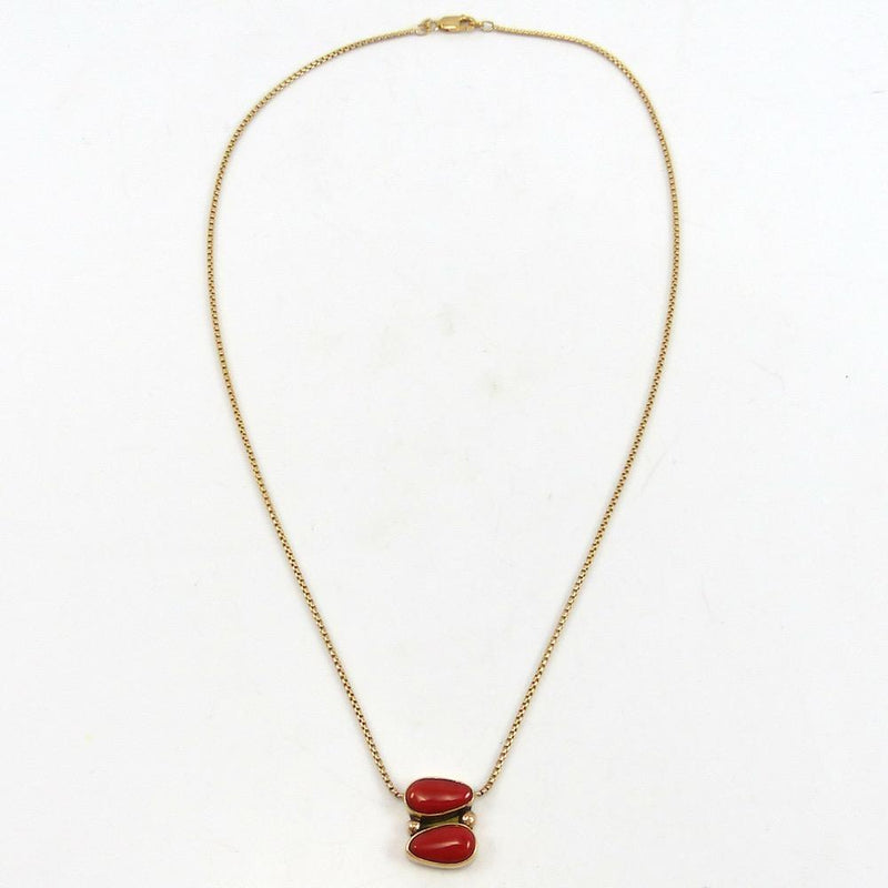 Coral and Gold Necklace, Noah Pfeffer, Jewelry, Garland's Indian Jewelry