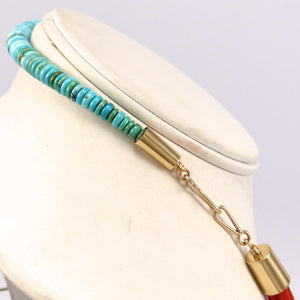 Turquoise and Coral Necklace