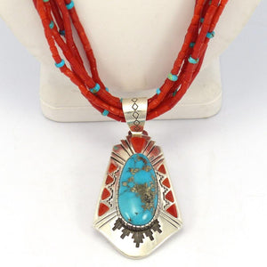 Coral Necklace with Pendant
