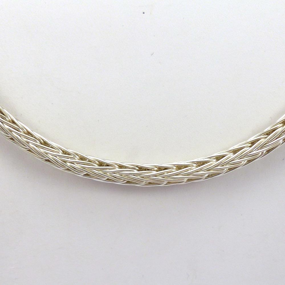 Silver Braided Necklace