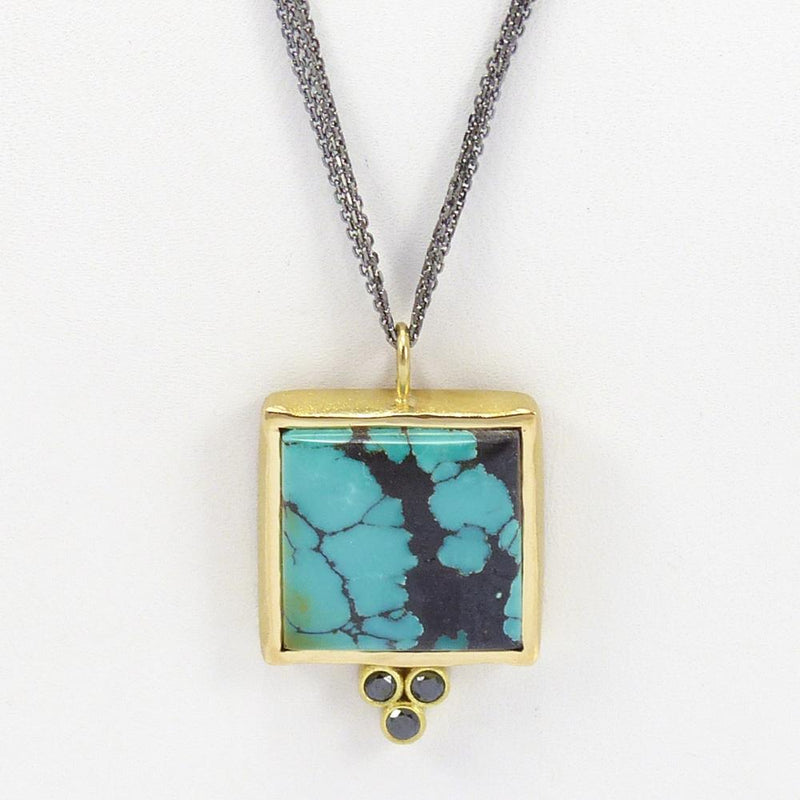 Turquoise and Gold Pendant