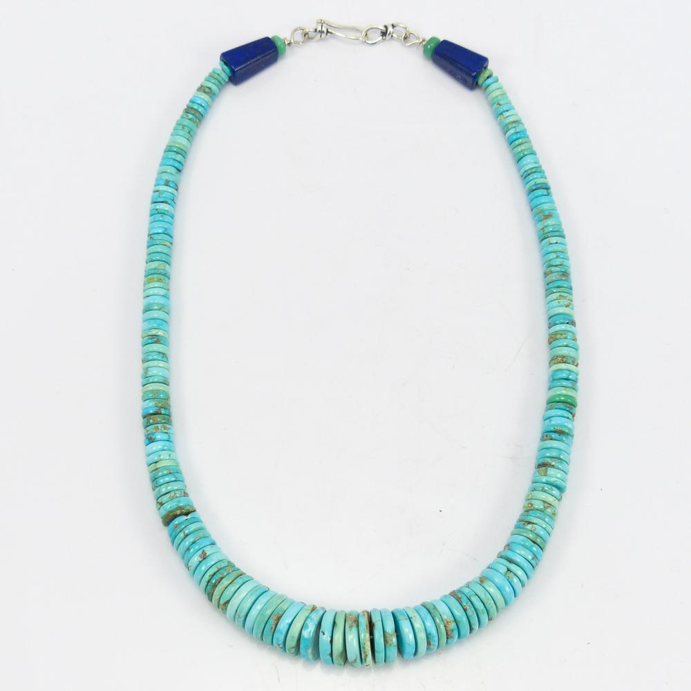 Red Mountain Turquoise Bead Necklace