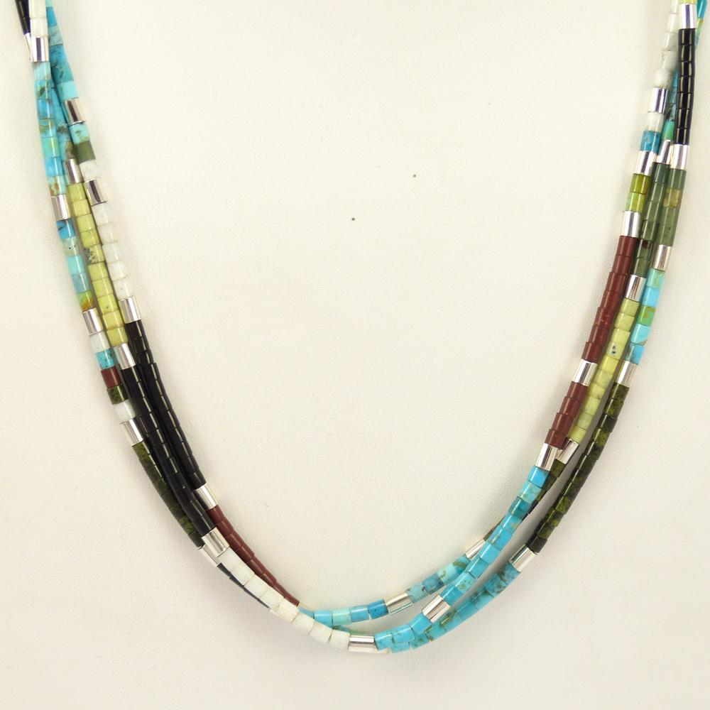 gemstone gerard single products and heishi calabaza mary necklace multi strand