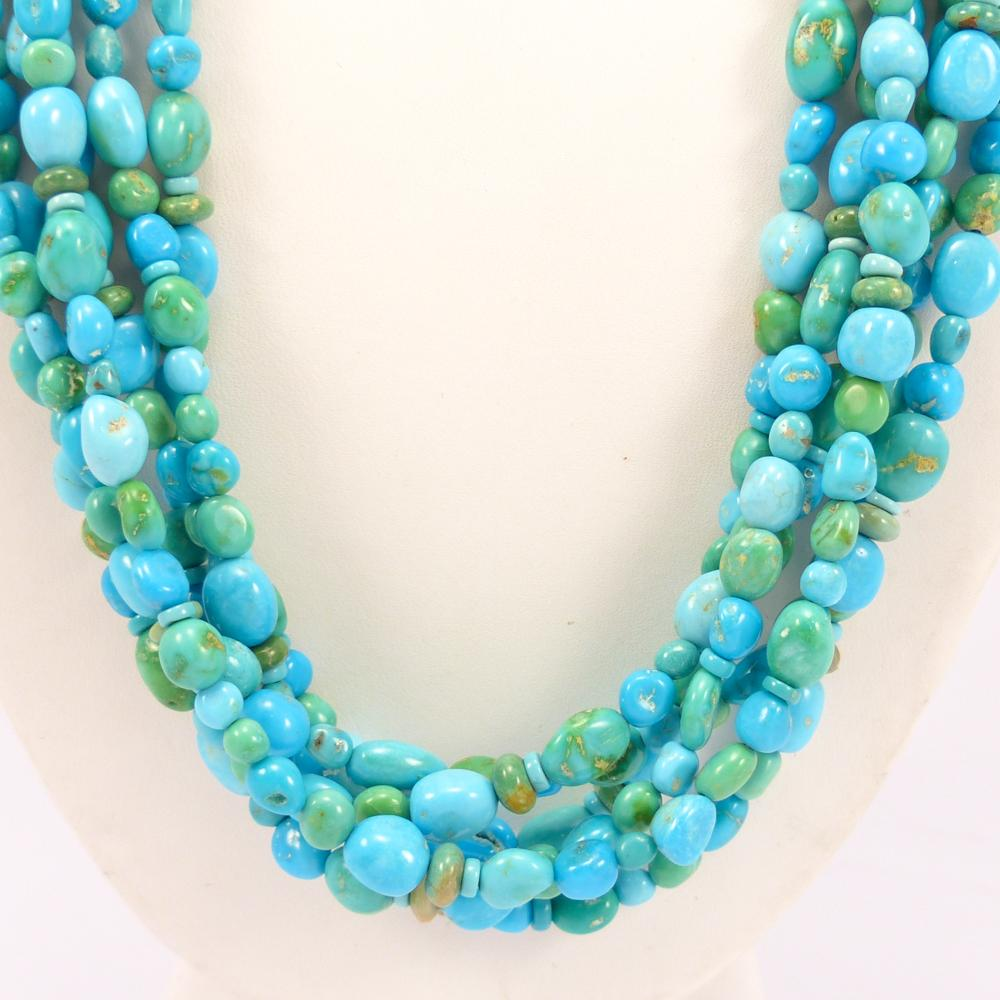 Turquoise and Variscite Necklace