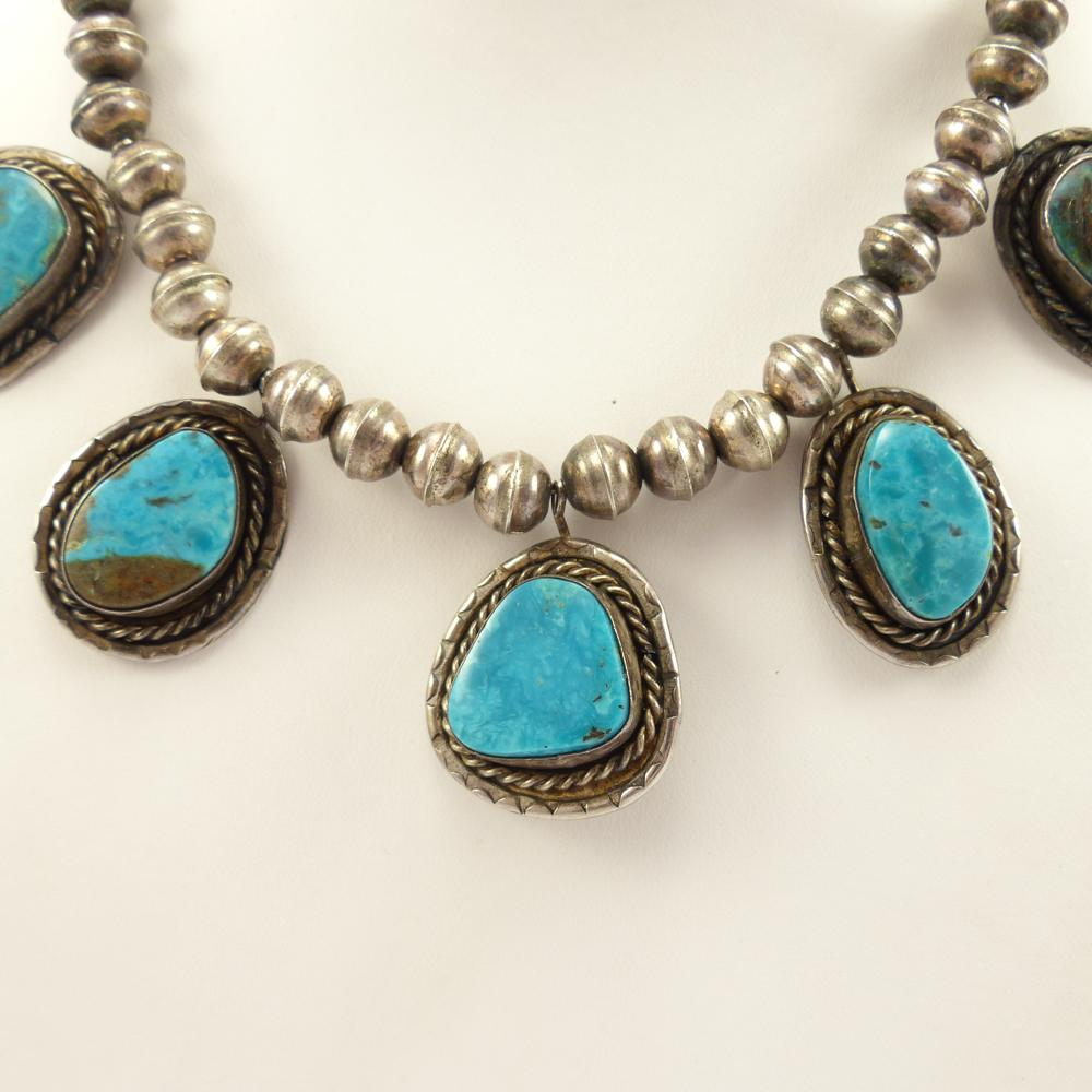 1970s Morenci Turquoise Necklace