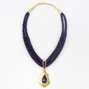Gold and Sugilite Necklace