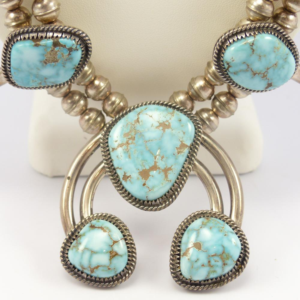 Dry Creek Turquoise Squash Blossom Necklace