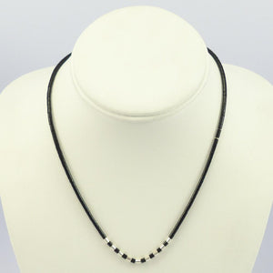 Jet Heishi Necklace