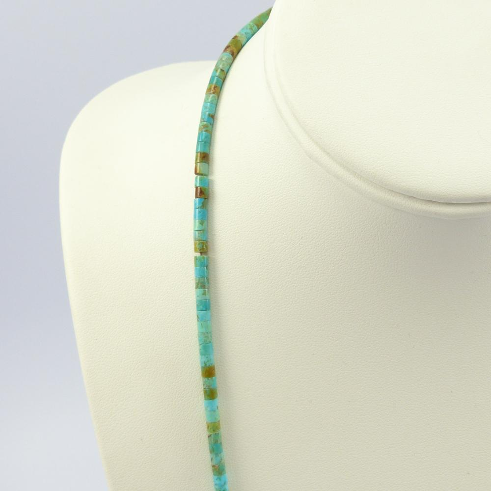 Kingman Turquoise Heishi Necklace