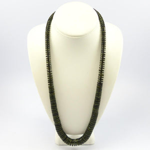 Serpentine and Shell Necklace