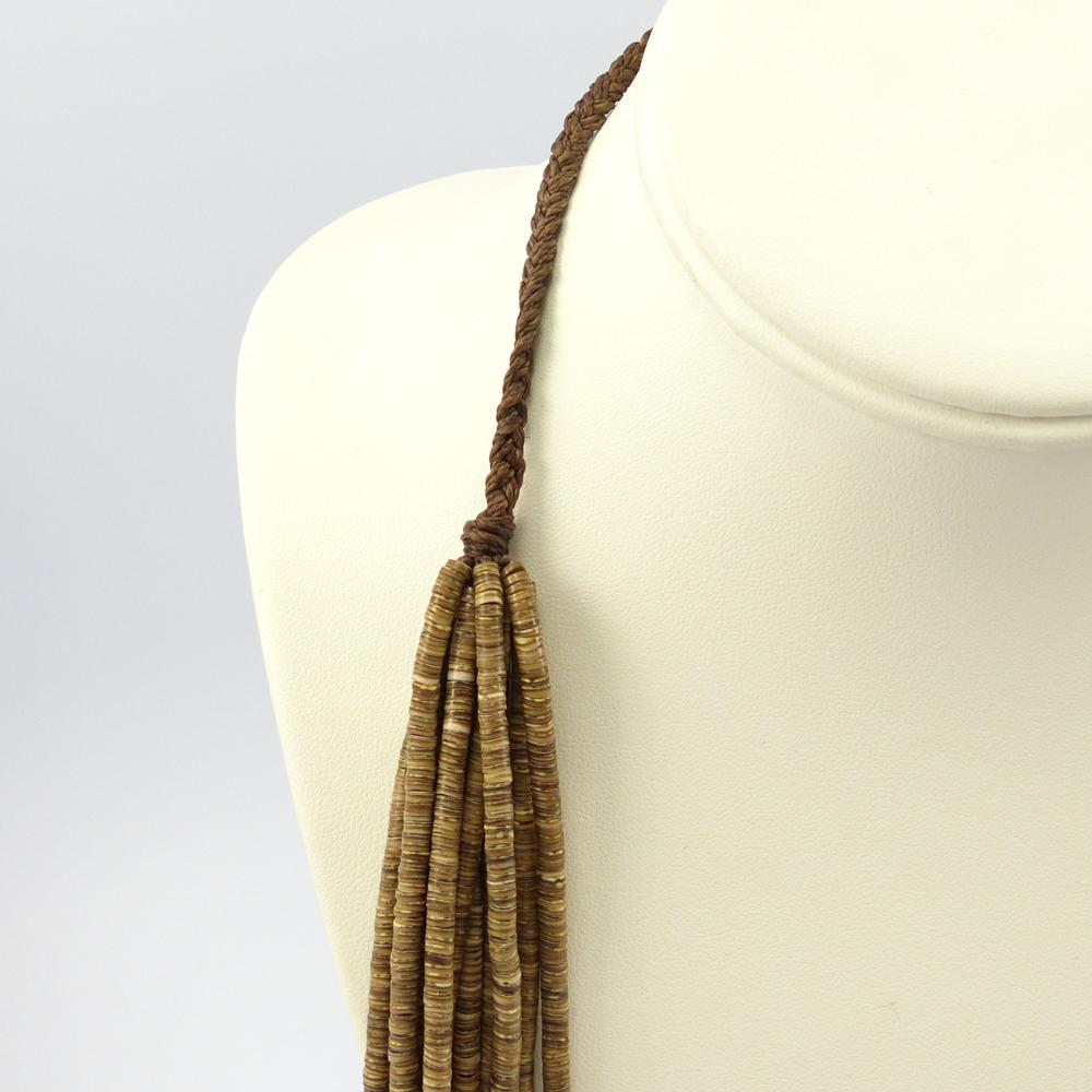 Olive Shell Heishi Bead Necklace