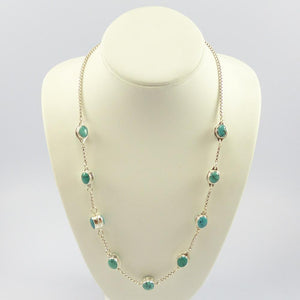 Turquoise Jelly Bean Necklace