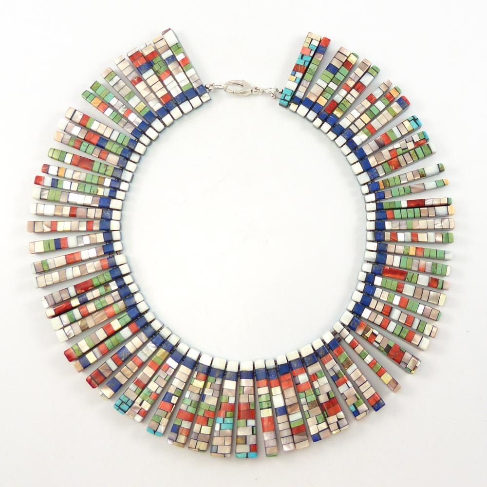 Reversible Inlaid Tab Necklace